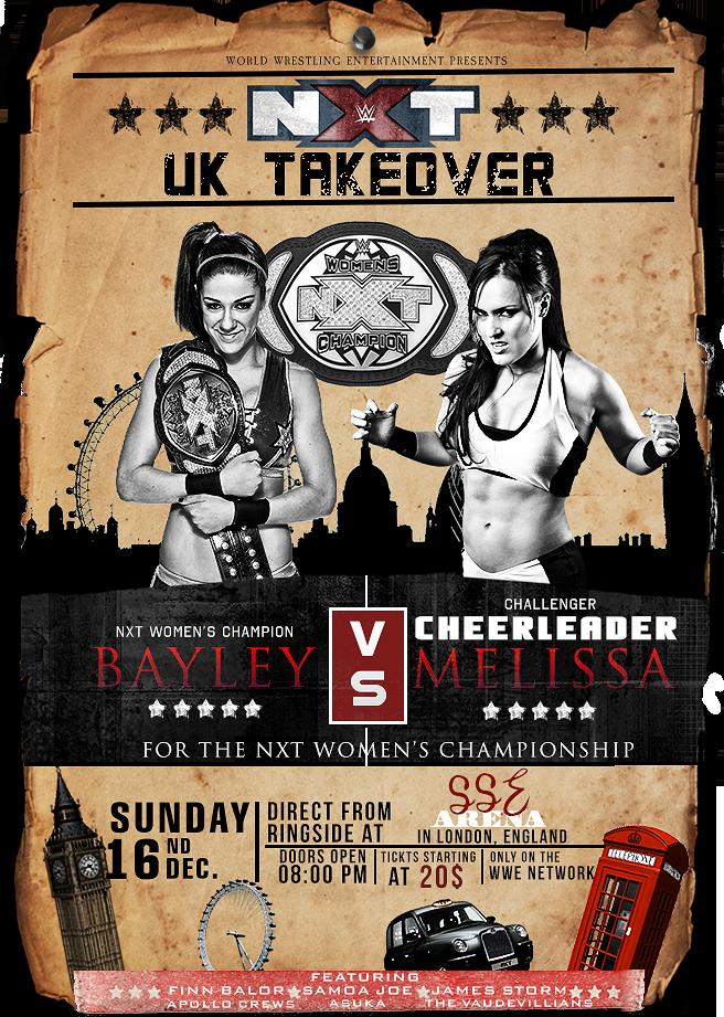 NXT UK TakeOver Bayley Vs Cheerleader Melissa by SoulRiderGFX