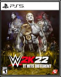 WWE 2K22 Custom Cover by SoulRiderGFX