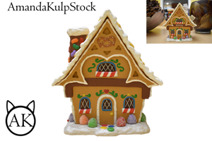Gingerbread House PNG Stock (Pre-Cut) by AmandaKulpStock