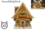 Gingerbread House PNG Stock (Pre-Cut)