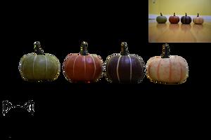 Colored Pumpkins PNG (Pre-Cut) by AmandaKulpStock