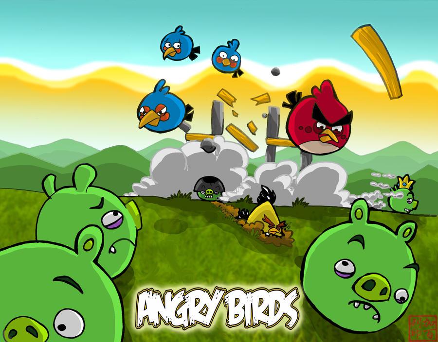 Angry Birds by Narunovi