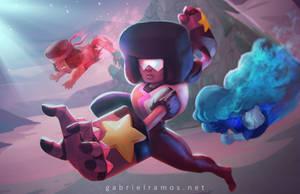 Steven Universe: Ruby|Saphire|Garnet by GabeRamos