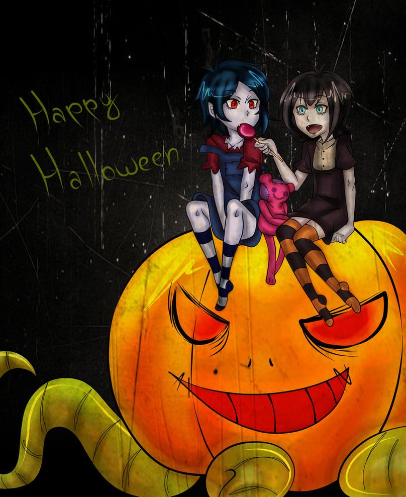 Happy Halloween! Marci and Mavis by HikaTsun