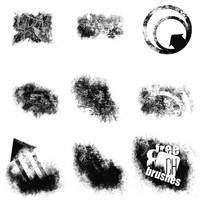 8 free grungy brushes by LiLcRaZyFuZzY