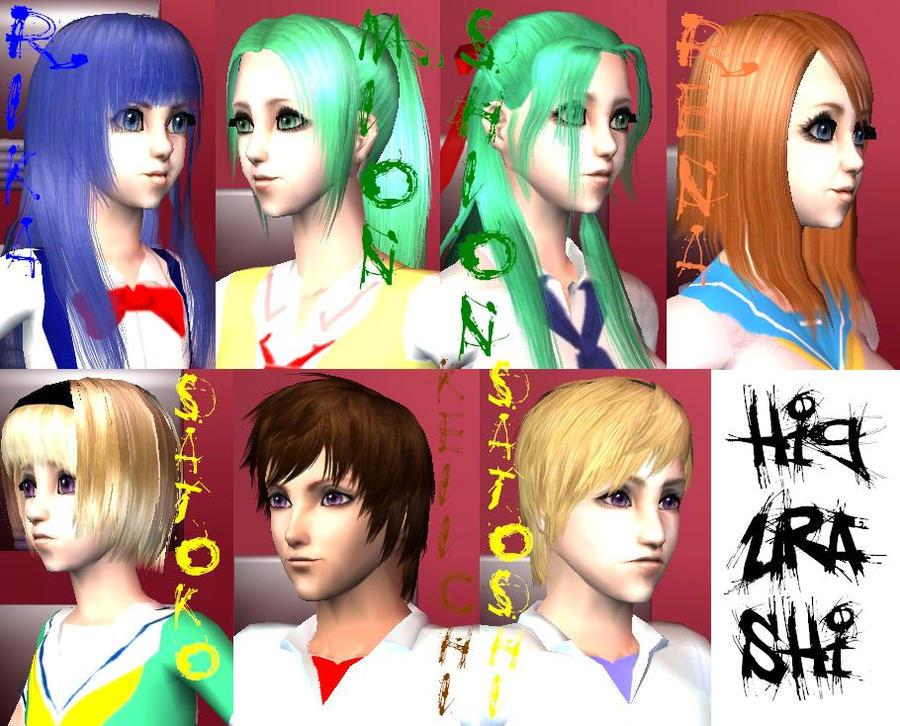 Higurashi no Naku Koro ni Sims by AkaneCat