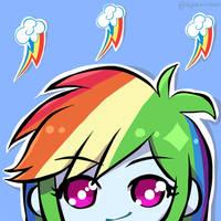 Rainbow Dash icon by Ayachiichan