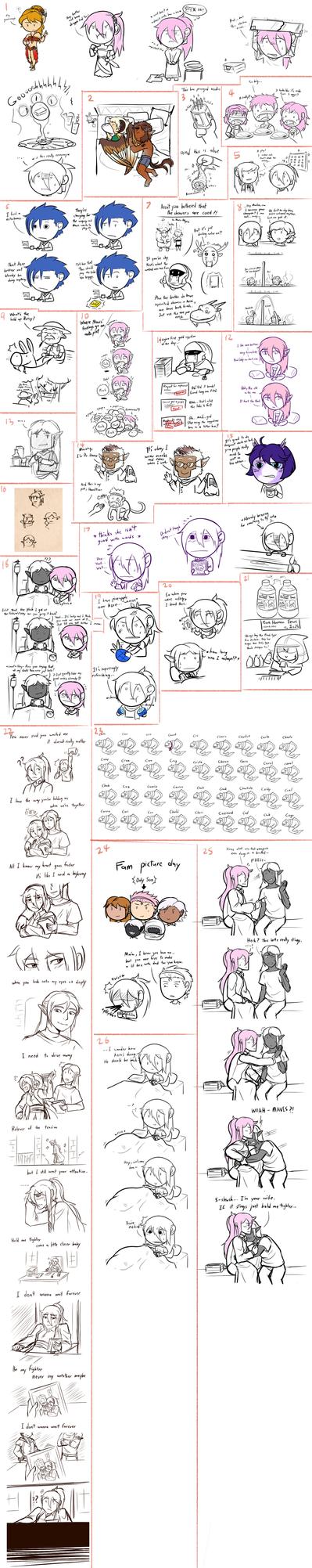 TL: Too many sketch to dump by dragoonwys