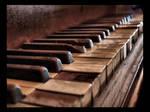 The piano keys.