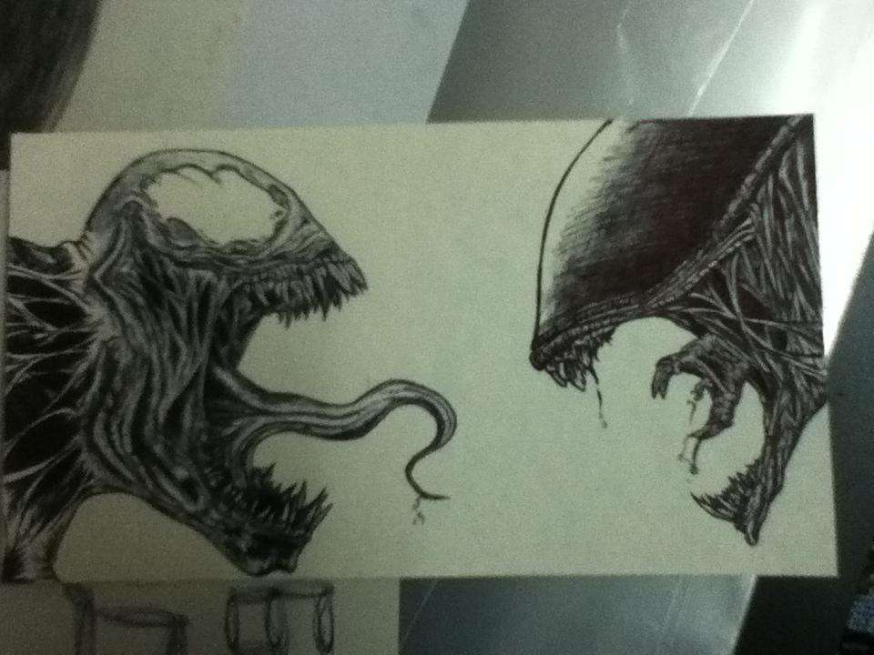Venom vs Alien by xxyaanboy