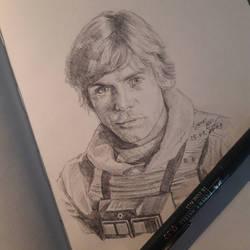 X-Wing pilot Luke Skywalker