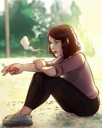 smoking by alexisrueda