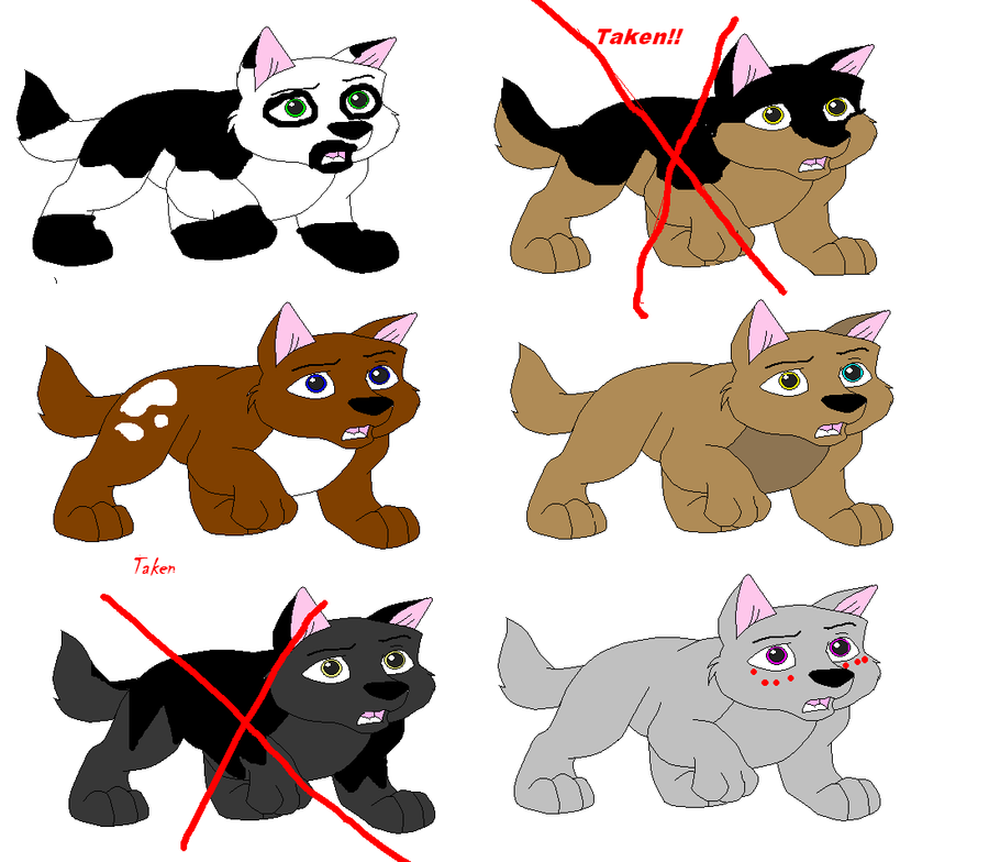 Wolf Pup Adoptables 2 Points Each By Lumpadoodle On Deviantart