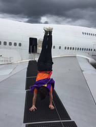 Handstand on a 747
