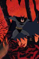Batman 655 Cover Animated Style by Tyraknifesaurus