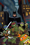 Batman/TMNT 1 Cover Animated Style
