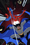 Batman and Spider-man Cover Animated Style