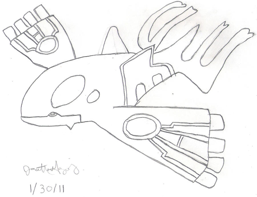 how to draw kyogre easy