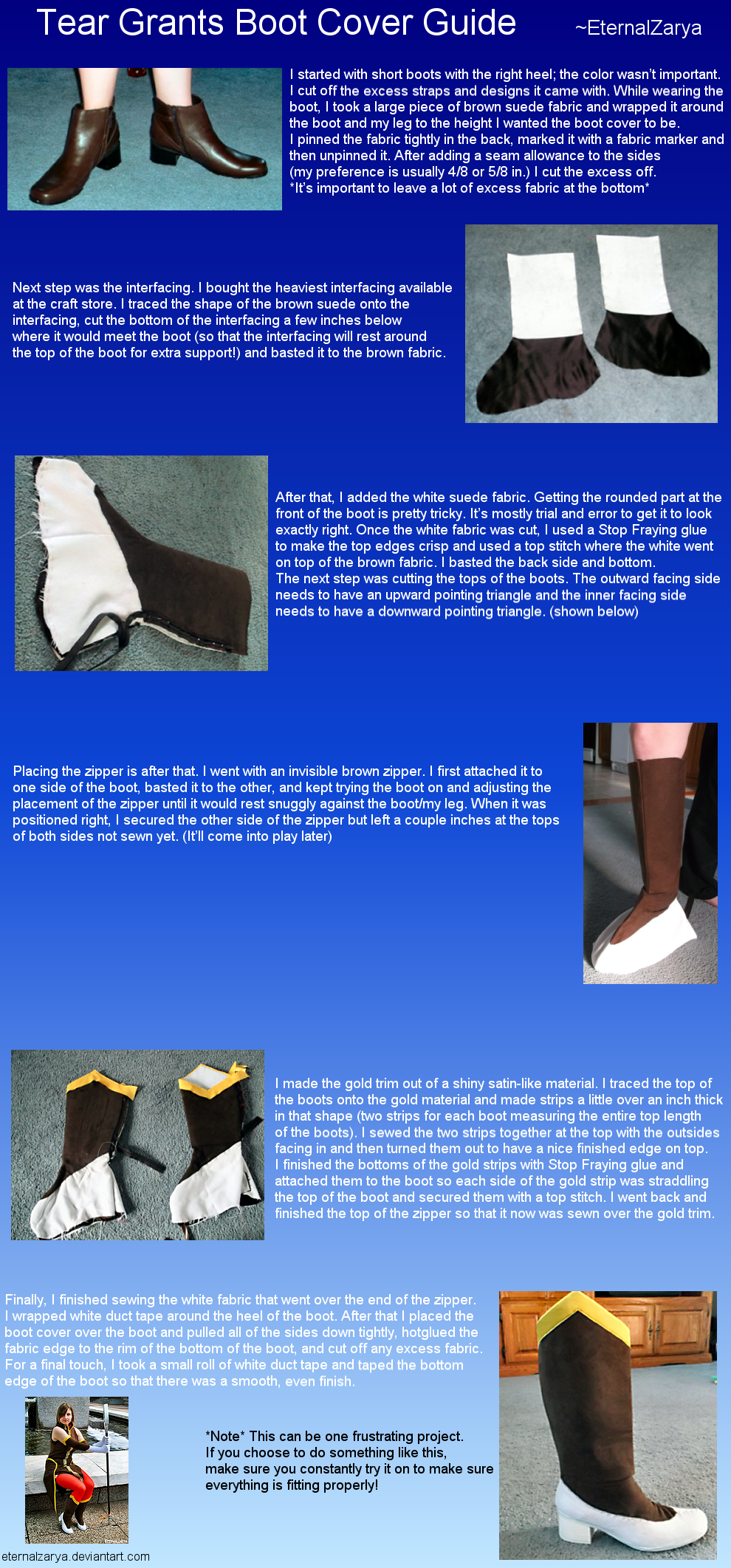 Tear Grants Boot Cover Guide