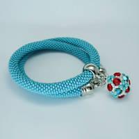 Crochet Necklace and Beaded Bead by borysbrytva