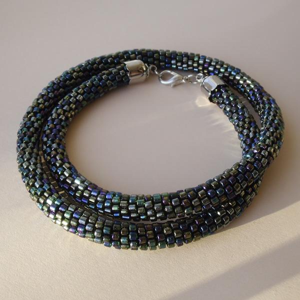 Bead Crochet Necklace Night By Borysbrytva On Deviantart