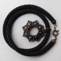 Gothic Black Necklace by borysbrytva