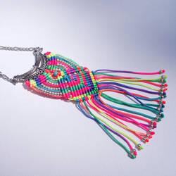Neon Micro Macrame Necklace by borysbrytva