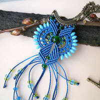 Bright Blue Green Pendant Macro by borysbrytva
