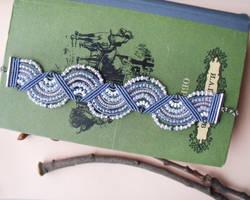 Pale Blue and White Bracelet by borysbrytva