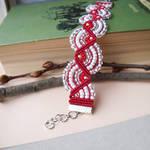 Red-White December Bracelet by borysbrytva