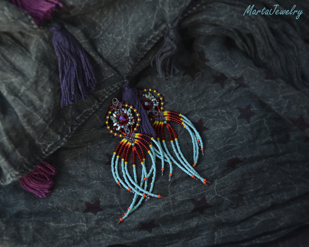 Ethnic Earrings by borysbrytva