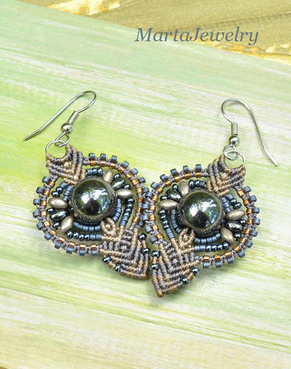 Hematite Earrings by borysbrytva
