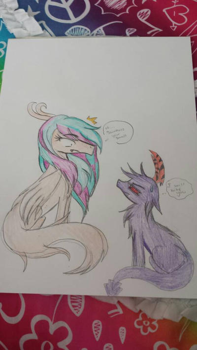 Random dragon beast drawing by cutelittlepikakitty