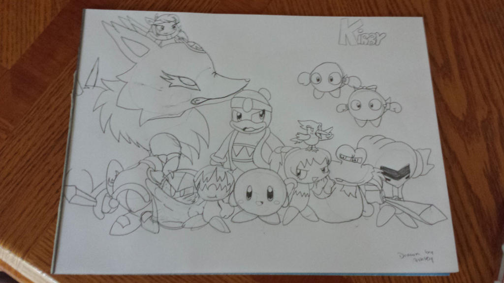 drawing of the kirby characters that i know by cutelittlepikakitty