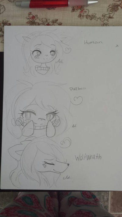 Me in different types OC by cutelittlepikakitty