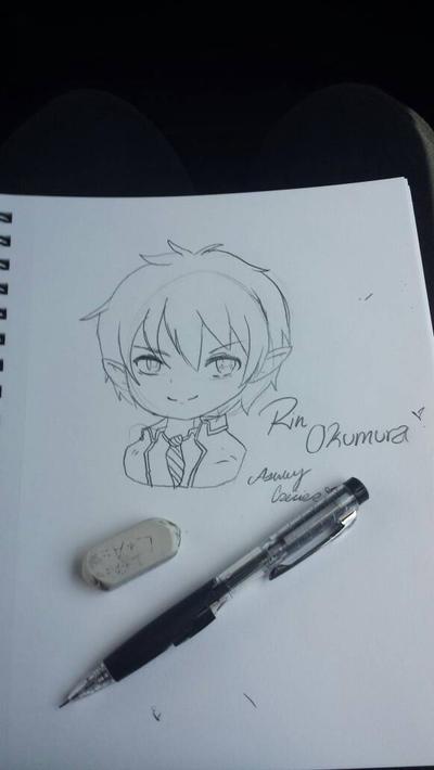 Drawing Rin Okumura  [Blue Exorcist] by cutelittlepikakitty