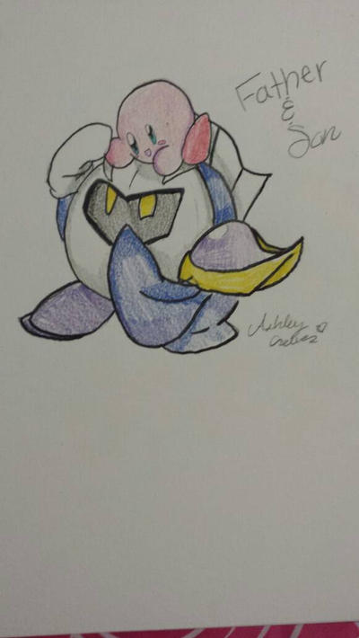 Meta knight and his son by cutelittlepikakitty