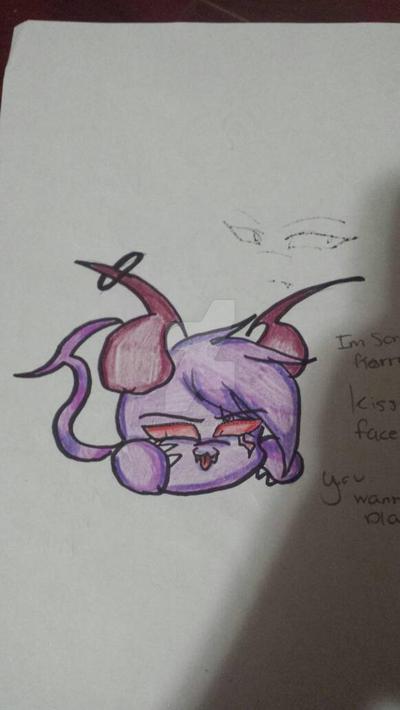 Kuro the fluffy Demon by cutelittlepikakitty