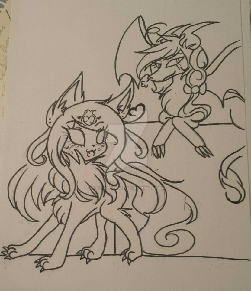 Dragon and Wolfwrath pt 2 by cutelittlepikakitty