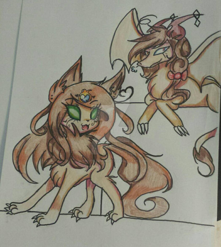 Dragon and wolfwrath final by cutelittlepikakitty