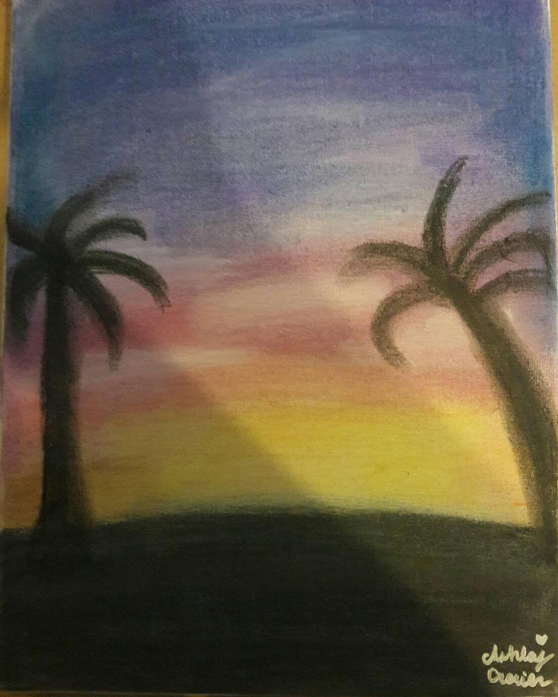 Sunset at the beach by cutelittlepikakitty