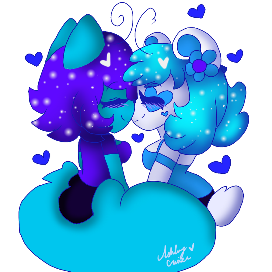 Blue Hearts  by cutelittlepikakitty
