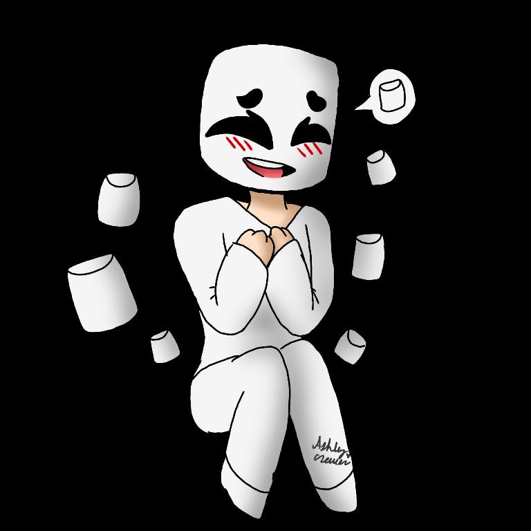 [Art Trade] Marshmello by cutelittlepikakitty