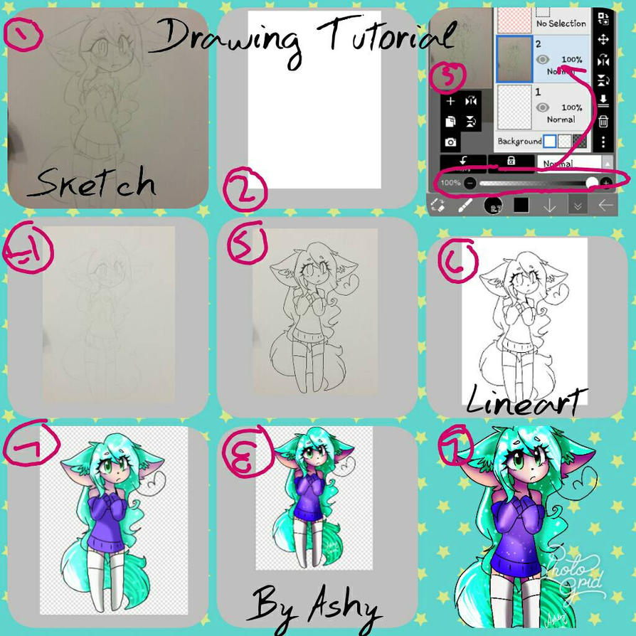 Drawing Tutorial  by cutelittlepikakitty