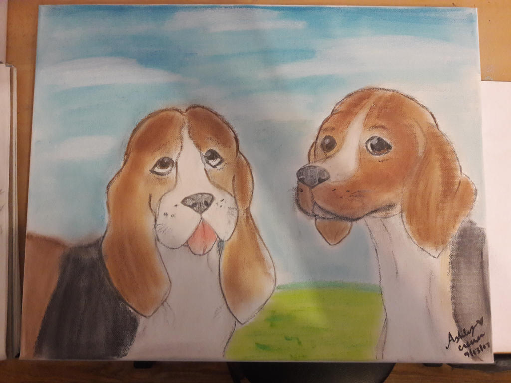 My aunt's dogs [Soft Pastel] by cutelittlepikakitty