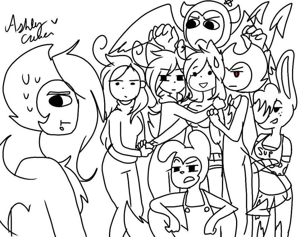 Draw the Squad! #1 [Not Colored] by cutelittlepikakitty