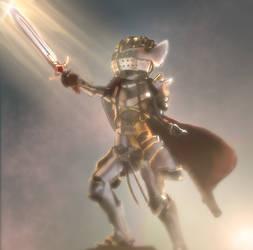 Brave knight by TheGentlemanCupcake