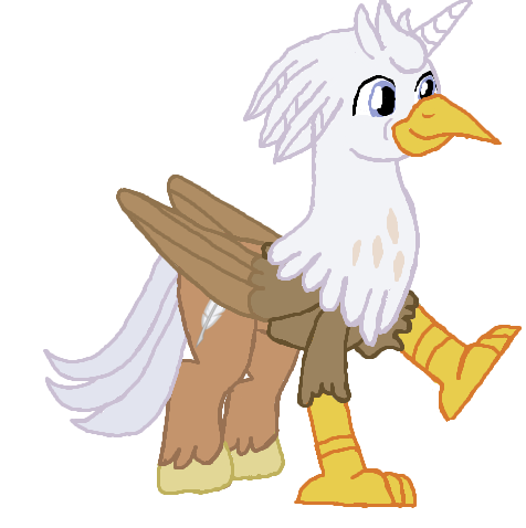MLP Silver-Quill with horn