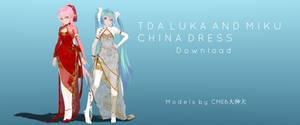 TDA Luka and Miku China Dress Download by CronaLuciaII
