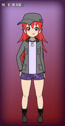 Moe Wars Mascot: Rika (Redraw) by darkrchaos